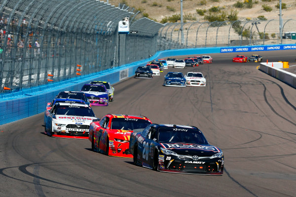 2017 NASCAR Xfinity Series DC Solar 200 Phoenix International Raceway, Avondale, AZ USA Saturday 18 March 2017 Erik Jones, Reser's Main St Bistro Toyota Camry and Justin Allgaier World Copyright: Russell LaBounty/LAT Images ref: Digital Image 17PHX1rl_3314