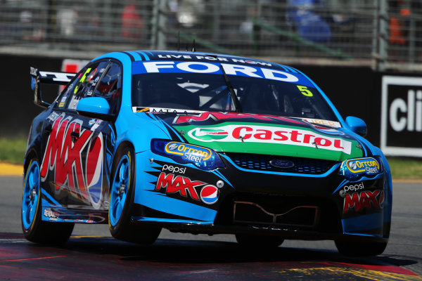 2014 V8 Supercar Championship. Round 1. Clipsal 500, Adelaide. 3rd March 2014. Sunday Race 2 .  Mark Winterbottom drives the #5 Pepsi max Crew Ford Action.  World Copyright: Daniel Kalisz/LAT Photographic Ref: Digital Image040314DKIMG0006.JPG