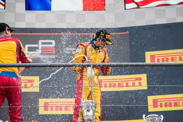2017 GP3 Series Round 5.  Spa-Francorchamps, Spa, Belgium. Sunday 27 August 2017. Giuliano Alesi (FRA, Trident), Ryan Tveter (USA, Trident).  Photo: Zak Mauger/GP3 Series Media Service. ref: Digital Image _56I3121