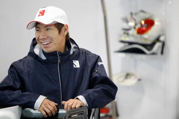 Suzuka Circuit, Suzuka, Japan. 9th October 2010. Kamui Kobayashi, BMW Sauber C29 Ferrari. Portrait.  World Copyright: Andrew Ferraro/LAT Photographic ref: Digital Image _Q0C8891