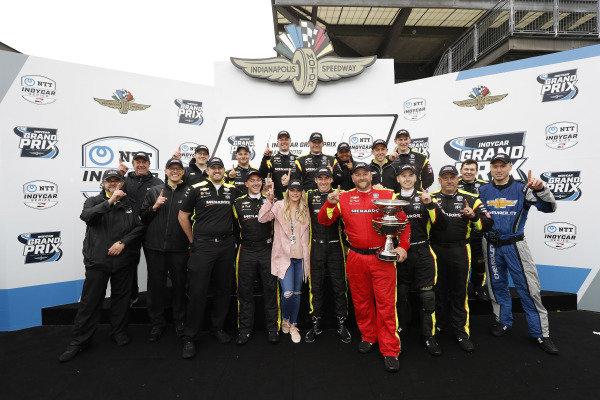 Simon Pagenaud, Team Penske Chevrolet, team, podium