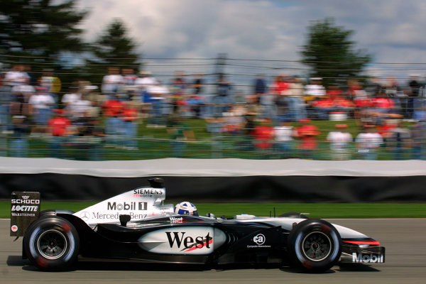 2002 American Grand Prix - Friday PracticeIndianapolis, USA. 27th September 2002David Coulthard.World Copyright - LAT Photographicref: Digital File Only