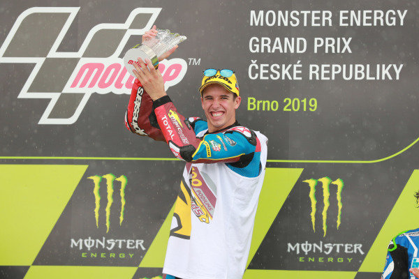 Podium: race winner Alex Marquez, Marc VDS Racing