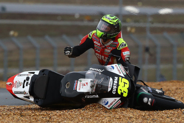 Cal Crutchlow, Team LCR Honda after crash.