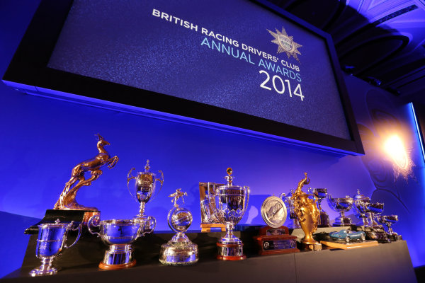 2014 BRDC Annual Awards The Grand Connaught Rooms, London, UK Monday 8 December 2014. Trophies ready to be presented. World Copyright: Ebrey/LAT Photographic. ref: Digital Image Trophies5