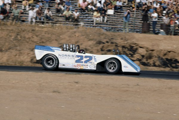 1970 Can-Am Challenge Cup.CanAm race. Riverside, California, United States (USA). 1 November 1970.Jackie Oliver (Bryant Ti22 Mk2-Chevrolet), 2nd position.World Copyright: LAT PhotographicRef: 35mm transparency 70CANAM30