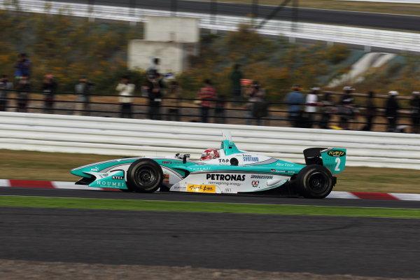 Suzuka Circuit, Japan. Rd 7 - 3rd - 4th November 2012. Race 2 Winner Kazuki Nakajima ( #2 PETRONAS TEAM TOM'S ) action World Copyright: Yasushi Ishihara/LAT Photographic ref: Digital Image 2012FN_Rd7_015