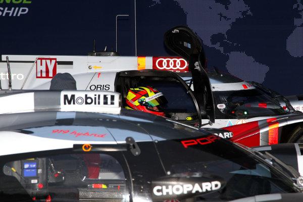 2015 FIA World Endurance Championship, Spa-Francorchamps, Belgium. 30th April - 2nd May 2015. Benoit Treluyer Audi Sport Team Joest Audi R18 e-tron quattro.  World Copyright: Ebrey / LAT Photographic.