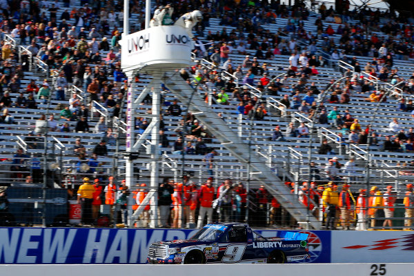 23-24 September, 2016, Loudon, New Hampshire USA William Byron drives under the checkered flag to win ?2016, Russell LaBounty LAT Photo USA
