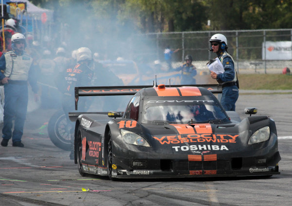 27-28 September, 2013, Lakeville, Connecticut USA The #10 Corvette DP of Jordan Taylor and Max Angelelli leaves pit road. . ©2013, R.D. Ethan LAT Photo USA