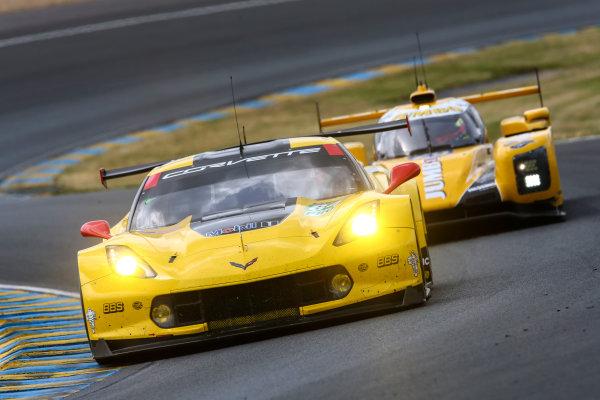 2017 Le Mans 24 Hours Test day, Le Mans, France. 4th June 2017. #64 Corvette Racing-GM Chevrolet Corvette C7.R: Oliver Gavin, Tommy Milner, Marcel Fassler. World Copyright: JEP/LAT Images.