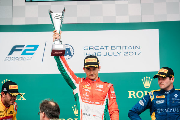 2017 FIA Formula 2 Round 6. Silverstone, Northamptonshire, UK. Saturday 15 July 2017. Charles Leclerc (MCO, PREMA Racing).  Photo: Malcolm Griffiths/FIA Formula 2. ref: Digital Image MALC6725