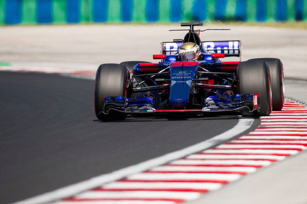 Hungaroring, Budapest, Hungary.  Tuesday 01 August 2017. Sean Gelael, Toro Rosso STR12 Renault. World Copyright: Joe Portlock/LAT Images  ref: Digital Image _R3I0345.CR2