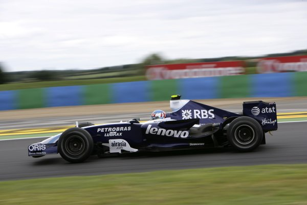 2007 French Grand Prix - Friday PracticeCircuit de Nevers Magny Cours, Nevers, France.29th June 2007.Alex Wurz, Williams FW29 Toyota. Action. World Copyright: Andrew Ferraro/LAT Photographicref: Digital Image VY9E1780