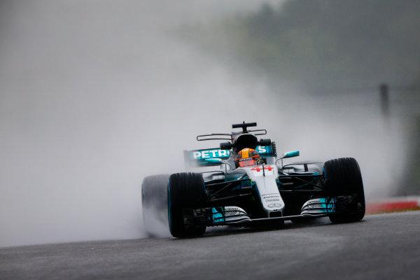 Suzuka Circuit, Japan. Friday 06 October 2017. Lewis Hamilton, Mercedes F1 W08 EQ Power+. World Copyright: Andy Hone/LAT Images  ref: Digital Image _ONZ1994