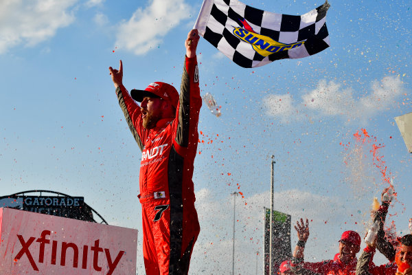 NASCAR XFINITY Series TheHouse.com 300 Chicagoland Speedway, Joliet, IL USA Saturday 16 September 2017 Justin Allgaier, BRANDT / Celebrating the Future of AG Chevrolet Camaro celebrates World Copyright: Logan Whitton LAT Images