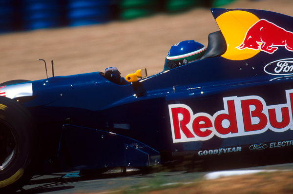 Magny-Cours, France.30/6-2/7 1995.Jean-Christophe Boullion (Sauber C14 Ford). He exited the race with transmission failure.Ref-95 FRA 19.World Copyright - LAT Photographic