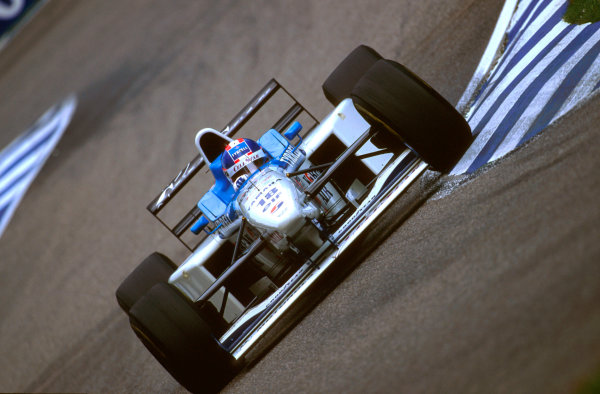 Hockenheim, Germany. 26th - 28th July 1996. Ukyo Katayama (Tyrrell 024 Yamaha). He spun on the exit of the first chicane and crashed out, action. Ref-96 GER 09. World Copyright: LAT Photographic