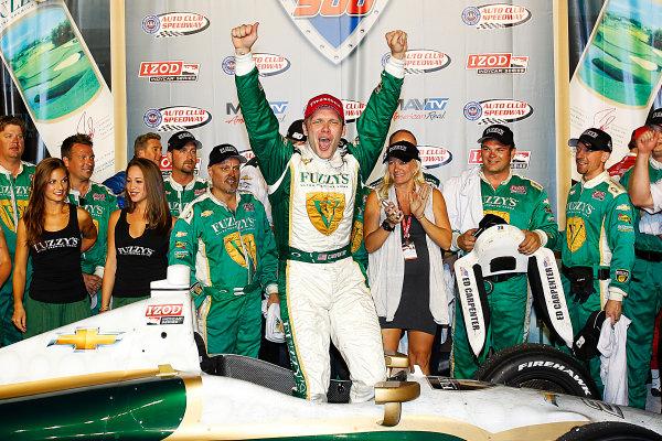 14-15, September, 2012, Fontana, California, USAEd Carpenter celebrates winning the MAVTV 500.(c) 2012, Perry NelsonLAT Photo USA