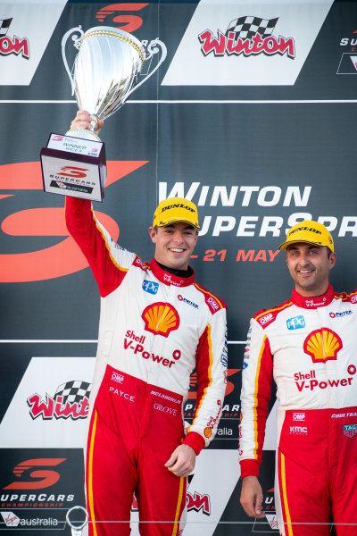 2017 Supercars Championship Round 5.  Winton SuperSprint, Winton Raceway, Victoria, Australia. Friday May 19th to Sunday May 21st 2017. Scott McLaughlin driver of the #17 Shell V-Power Racing Team Ford Falcon FGX. World Copyright: Daniel Kalisz/LAT Images Ref: Digital Image 200517_VASCR5_DKIMG_5449.JPG