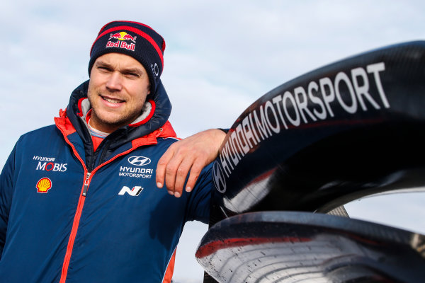 2018 FIA World Rally Championship, Round 02, Rally Sweden 2018, February 15-18, 2018. Andreas Mikkelsen, Hyundai, Portrait Worldwide Copyright: McKlein/LAT