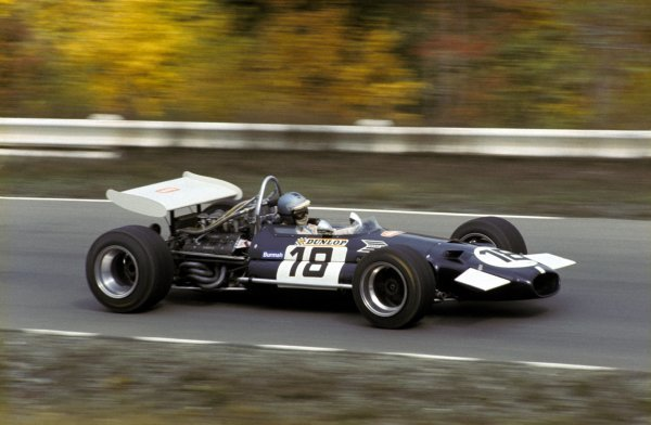 Piers Courage (GBR) Frank Williams Racing Cars Brabham BT26A equalled his career best result with a fine second place finish.