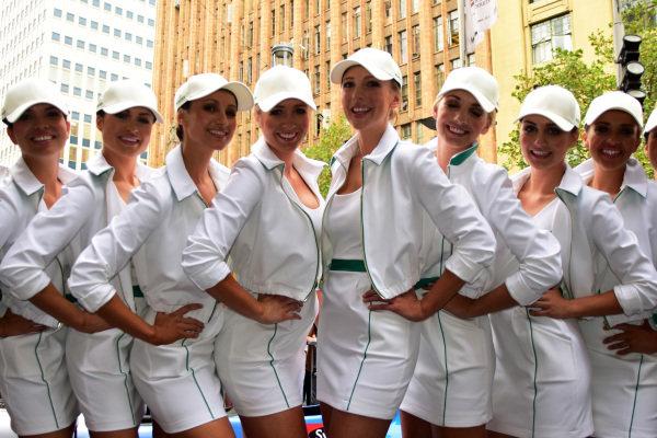 Rolex girls. Formula One World Championship, Rd1, Australian Grand Prix, Preparations, Albert Park, Melbourne, Australia, Tuesday 11 March 2014.