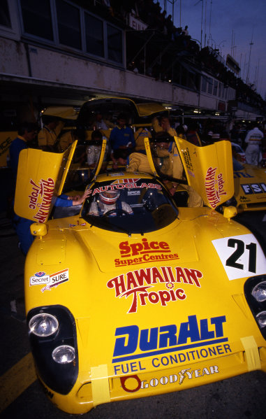 Ray Bellm (GBR) / Gordon Spice (GBR) / Lyn St. James (USA), Spice Engineering SE89C, did not finish. Le Mans 24 Hours, Le Mans, France, 10 & 11 June 1989.
