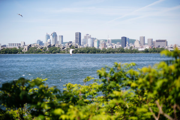 Circuit Gilles Villeneuve, Montreal, Canada. Thursday 4 June 2015. The Montreal skyline. World Copyright: Steven Tee/LAT Photographic. ref: Digital Image _X0W3854