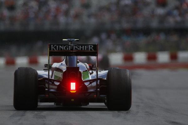 Circuit Gilles Villeneuve, Montreal, Canada. Friday 6 June 2014. Sergio Perez, Force India VJM07 Mercedes. World Copyright: Alastair Staley/LAT Photographic. ref: Digital Image _R6T5567