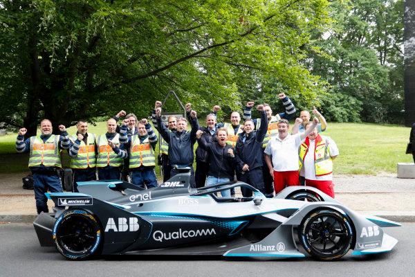Formula 1 World Champion, Nico Rosberg with Alejandro Agag, CEO, Formula E, and the Gen2 Formula E car.