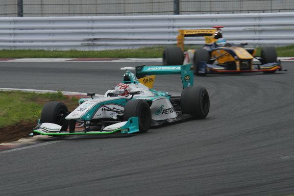 2014 Super Formula Series. Fuji, Japan. 11th - 13th July 2014. Rd 3. Winner Kazuki Nakajima ( #37 TEAM TOM'S SF14 ) action. World Copyright: Yasushi Ishihara / LAT Photographic. Ref: 2014SF_Rd3_003.JPG