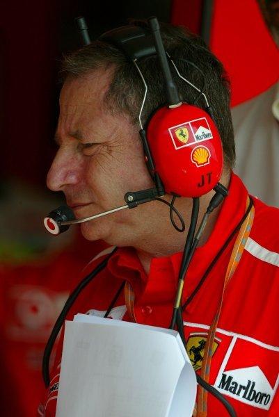 Jean Todt (FRA) Ferrari General Manager.Formula One World Championship, Rd13, Hungarian Grand Prix, Hungaroring, Hungary, 22 August 2003.DIGITAL IMAGE
