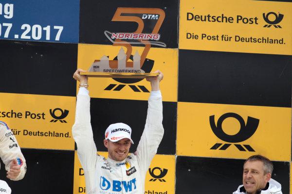 2017 DTM Round 4 Norisring, Nuremburg, Germany Sunday 2 July 2017. Podium:  third place Edoardo Mortara, Mercedes-AMG Team HWA, Mercedes-AMG C63 DTM World Copyright: Alexander Trienitz/LAT Images ref: Digital Image 2017-DTM-R3-NOR-AT1-3827