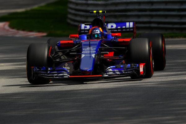 Circuit Gilles Villeneuve, Montreal, Canada. Friday 09 June 2017. Carlos Sainz Jr, Toro Rosso STR12 Renault. World Copyright: Steven Tee/LAT Images ref: Digital Image _O3I9076