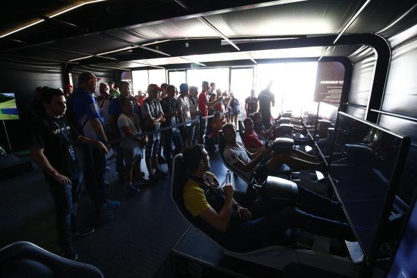 2017 FIA Formula 2 Round 7. Hungaroring, Budapest, Hungary. Saturday 29 July 2017. Nicholas Latifi (CAN, DAMS), Luca Ghiotto (ITA, RUSSIAN TIME).  Photo: Andy Hone/FIA Formula 2. ref: Digital Image _ONZ9603