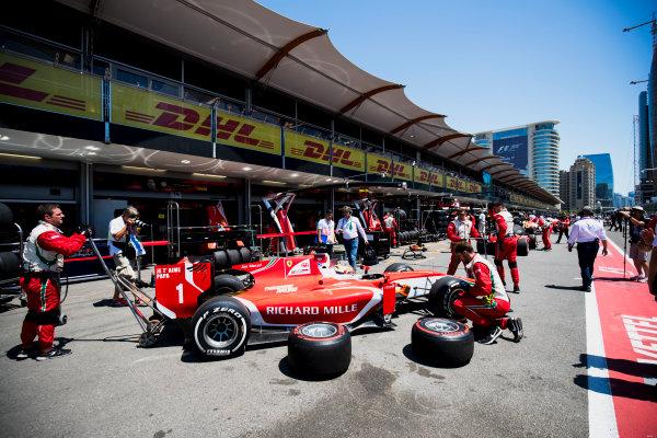 2017 FIA Formula 2 Round 4. Baku City Circuit, Baku, Azerbaijan. Saturday 24 June 2017. Charles Leclerc (MCO, PREMA Racing)  Photo: Zak Mauger/FIA Formula 2. ref: Digital Image _54I1025