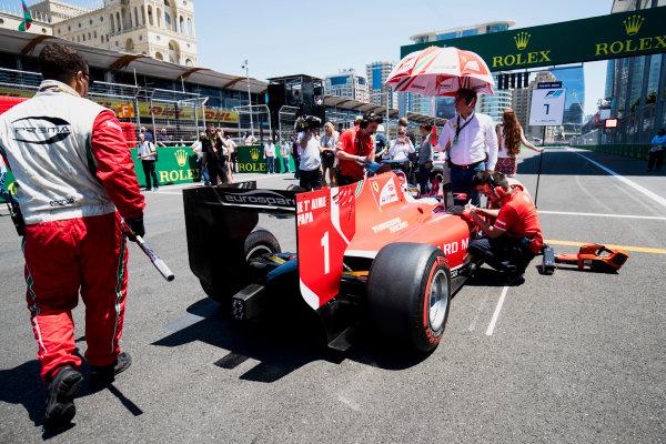2017 FIA Formula 2 Round 4. Baku City Circuit, Baku, Azerbaijan. Saturday 24 June 2017. Charles Leclerc (MCO, PREMA Racing)  Photo: Zak Mauger/FIA Formula 2. ref: Digital Image _54I1084