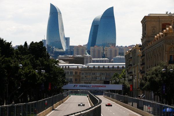 Baku City Circuit, Baku, Azerbaijan. Friday 23 June 2017. Felipe Massa, Williams FW40 Mercedes, and Kimi Raikkonen, Ferrari SF70H. World Copyright: Andrew Hone/LAT Images ref: Digital Image _ONY8422
