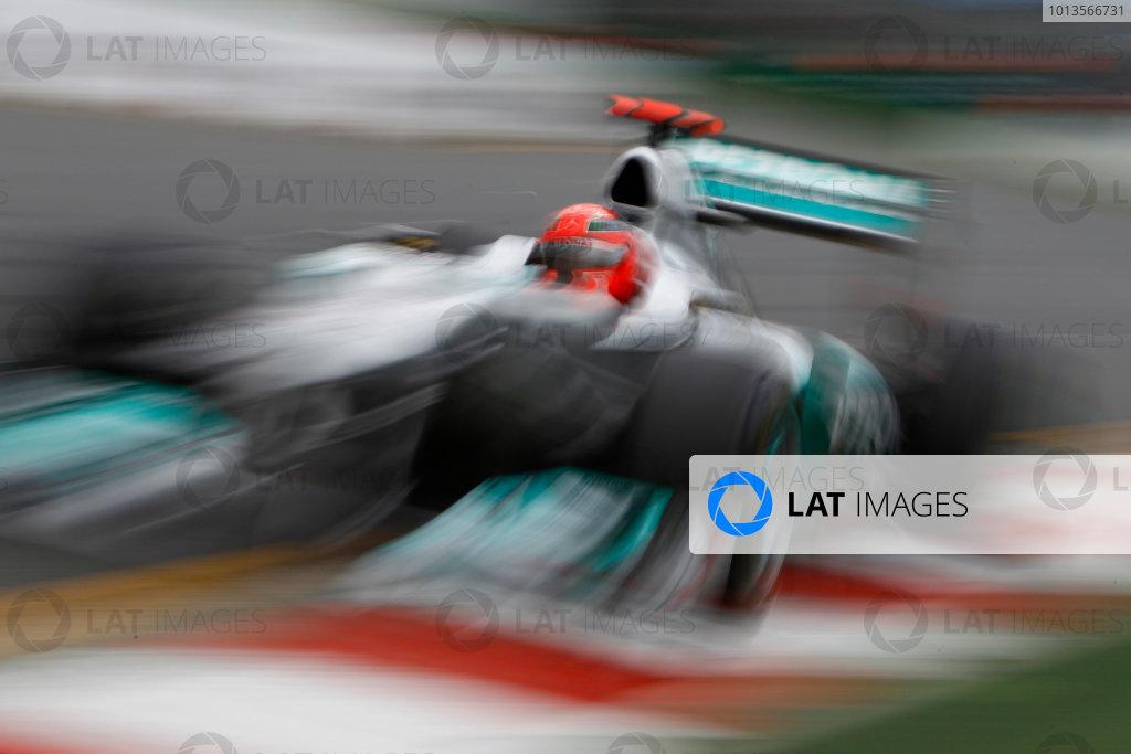 Albert Park, Melbourne, Australia 25th March 2011. Michael Schumacher, Mercedes GP W02. Action.  World Copyright: Glenn Dunbar/LAT Photographic ref: Digital Image _G7C3495
