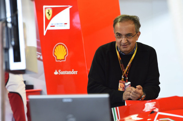 Sergio Marchionne in the garage.