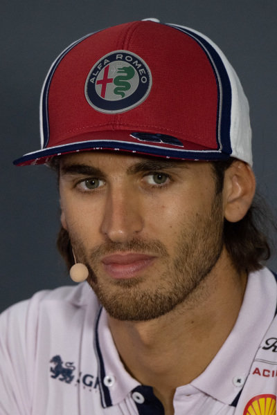 Antonio Giovinazzi, Alfa Romeo Racing in the Press Conference