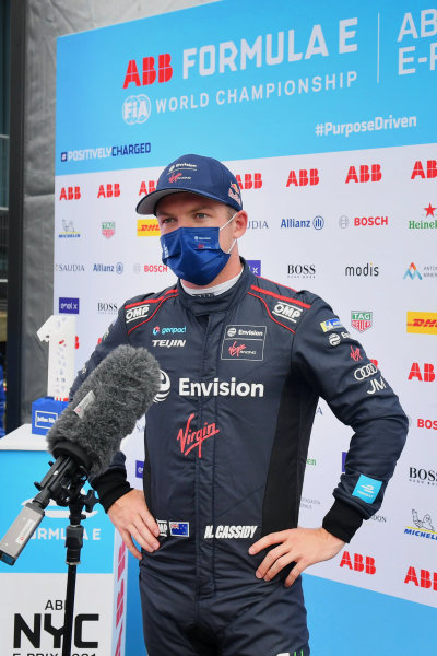 Nick Cassidy (NZL), Envision Virgin Racing, is interviewed after Qualifying