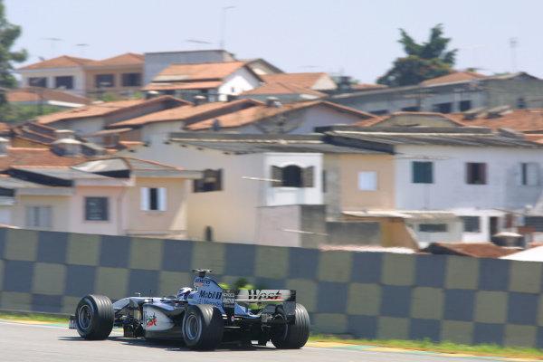 2002 Brazilian Grand Prix - Friday PracticeInterlagos, Sao Paulo. 29th March 2002Kimi Raikkonen (McLaren MP4/17 Mercedes). World Copyright - LAT Photographicref: Digital File Only