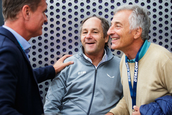 ex-F1 drivers David Coulthard, Gerhard Berger and Riccardo Patrese
