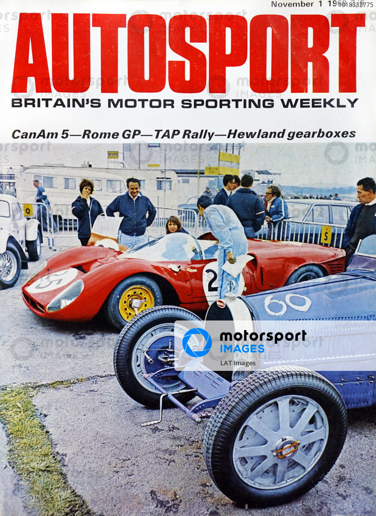 Cover of Autosport magazine, 1st November 1968