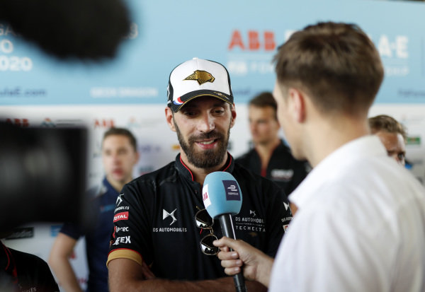Jean-Eric Vergne (FRA), DS Techeetah  is interviewed by the media