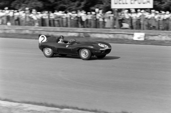 John Lawrence, Ecurie Ecosse, Jaguar D-Type.