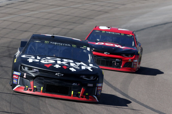 #1: Kurt Busch, Chip Ganassi Racing, Chevrolet Camaro Global Poker #3: Austin Dillon, Richard Childress Racing, Chevrolet Dow