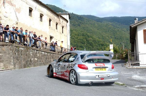 2002 World Rally Championship.Rallye d'Italia, 20-22 September.Sanremo, Italy.Harri Rovanpera on Stage 4.Photo: Ralph Hardwick/LAT